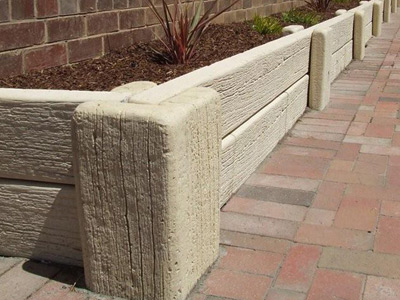 Concrete Sleepers Garden Edging image