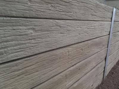 Concrete Sleepers Retaining Wall image